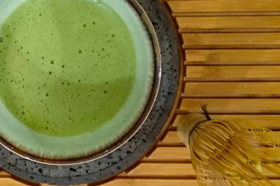 Matcha, tè verde in polvere